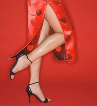 Woman with Beautiful Legs without Varicose Veins