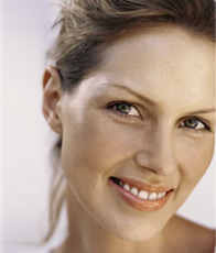 Beautiful Woman's Face with some Wrinkles