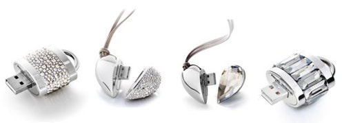 Active Crystals Luxury USB Drives by Philips and Swarovski