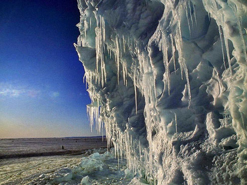 Icicles in Antarctica