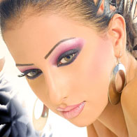 Beautiful Woman with Beautiful Eye Makeup