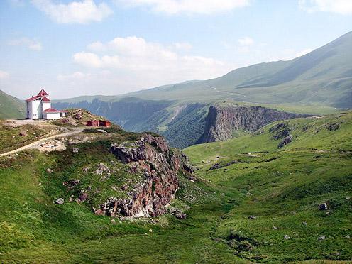 Green Grass Covering Elbrus Hills