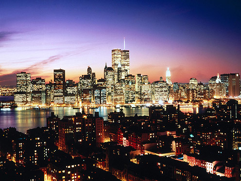 Lower Manhattan as seen over Brooklyn Heights, New-York
