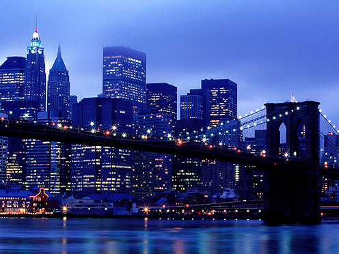 Manhattan Skyline from Brooklyn, New-York