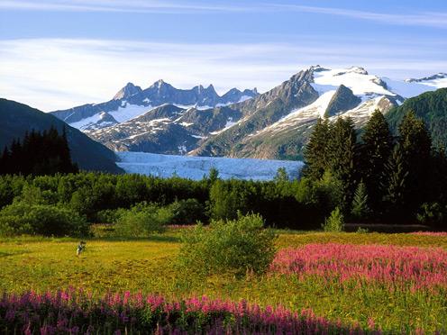 Alaskan Mountains Far Away