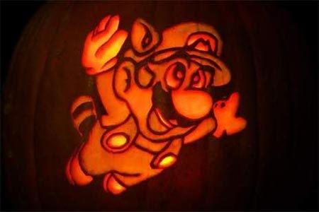 Super Mario Pumpkin Pattern
