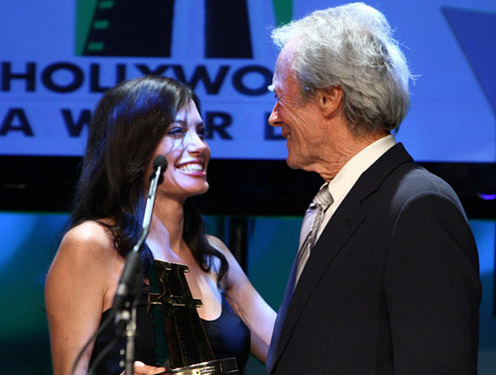 Angelina Jolie arrived to honor Clint Eastwood