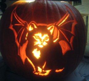 Kitten Pumpkin Pattern for Halloween