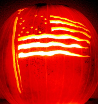 Flag Pumpkin Pattern for Halloween