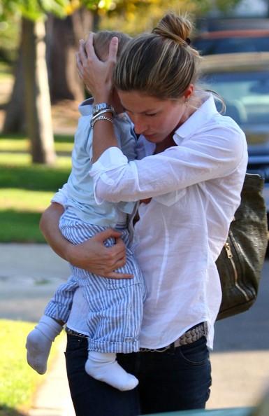 Gisele Bundchen with Tom Brady's Son