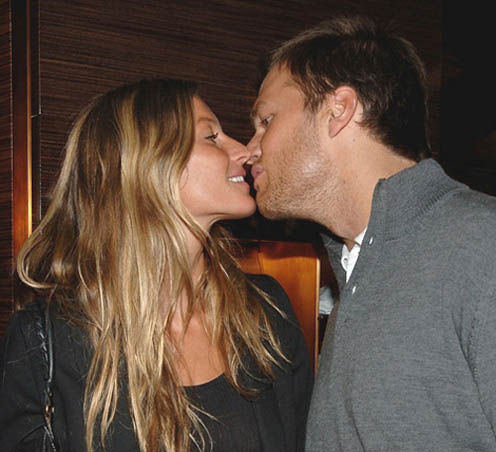 Gisele Bundchen and Tom Brady Kissing