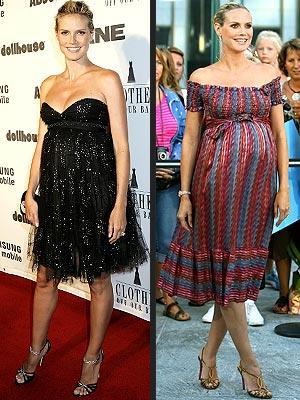 Pregnant Heidi Klum