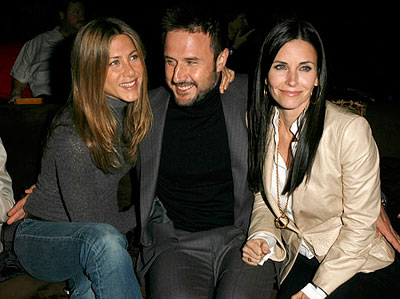 Jennifer Aniston, David Arquette and Courtney Cox