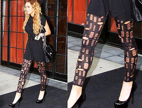 Lindsay Lohan's Leggings