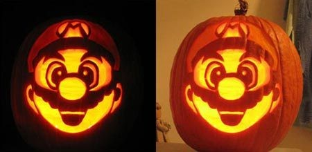 Mario Pumpkin Pattern for Halloween