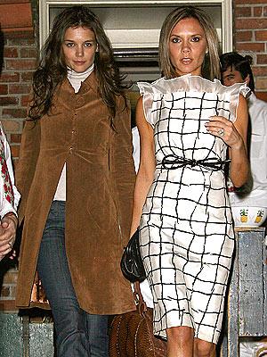 Victoria Beckham and Katie Holmes