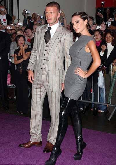 Victoria Beckham in High Heels With no Heels