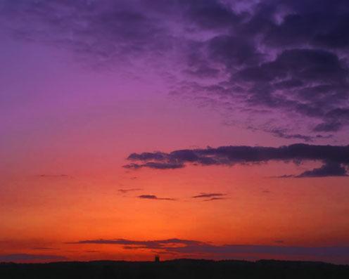 Violet-Orange Sunset