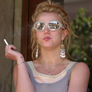 Britney Spears Smoking