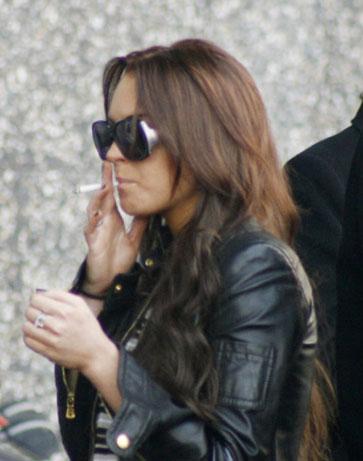 Lindsay Lohan smoking
