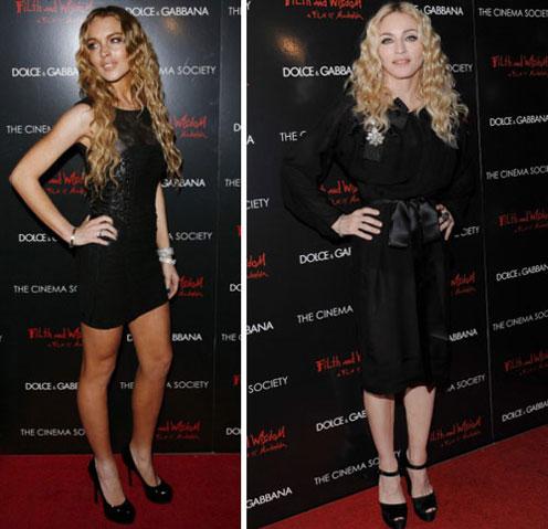 Madonna and Lindsay Lohan