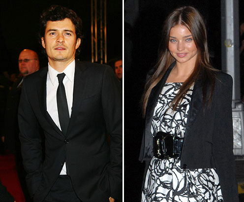 Orlando Bloom and Miranda Kerr We can only wonder about the time when she