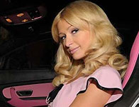 Paris Hilton in Her New Pink Bentley