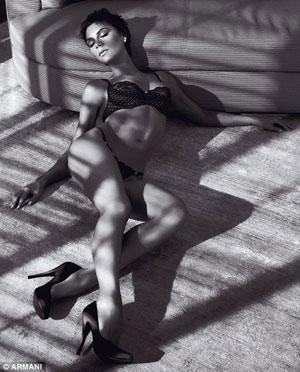 Victoria Beckham in Armani Underwear Ad