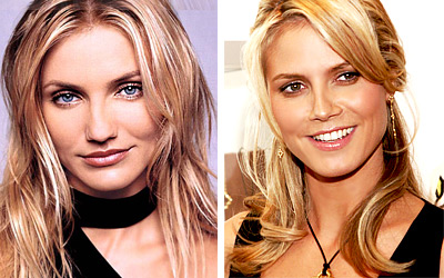 Cameron Diaz and Heidi Klum