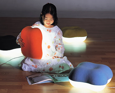 Girl with Pillow Light