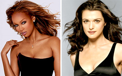 Tyra Banks and Rachel Weisz