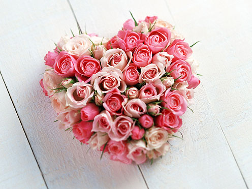 Heart-Shaped Flower Composition