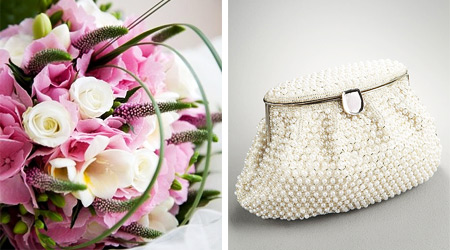 Wedding Bouquet and Clutch