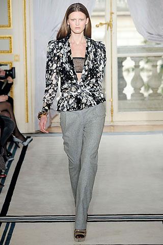 Balenciaga Black and White Jacket and Grey Pants