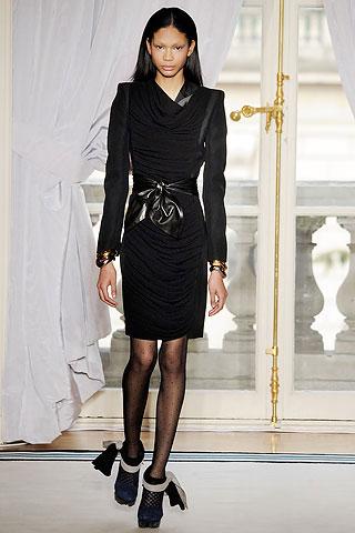 Balenciaga Black Velevet Feminine Dress