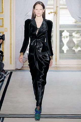Balenciaga Black Velvet Long Dress