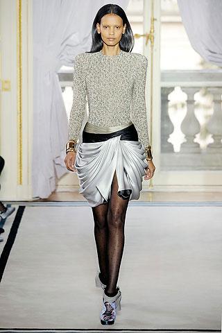 Balenciaga White Silk Skirt