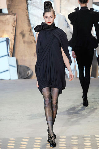 Christian Lacroix Black Minimalistic Dress
