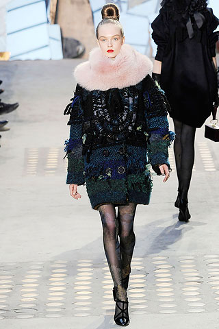 Christian Lacroix Coat with Pink Fur Collar