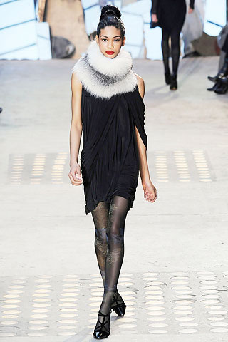 Christian Lacroix Dress with Fur Collar