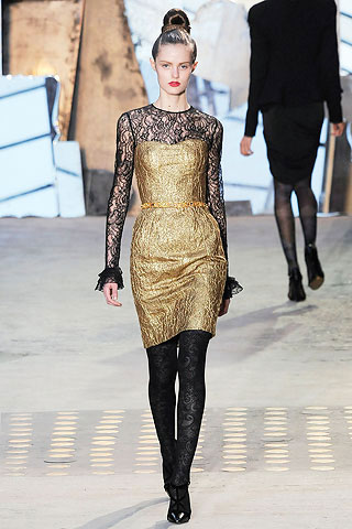 Christian Lacroix Golden Dress