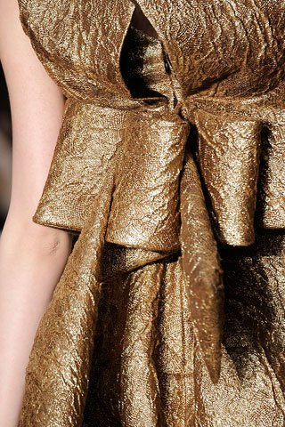 Christian Lacroix Golden Ruffle Detail