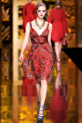 Red Dior Dress