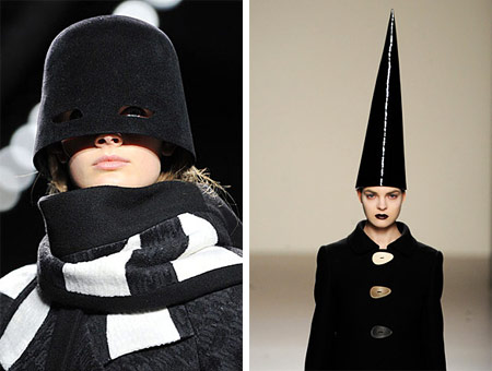 Fashion Hats Narciso Rodriguez and Lydia Delgado