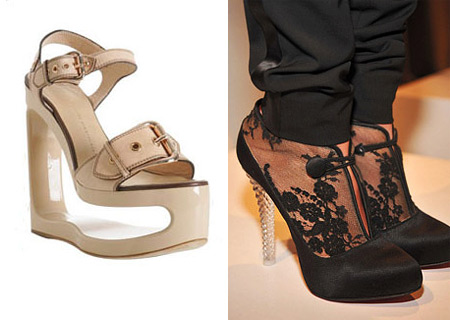 Giuseppe Zanotti Wedge Shoes and Marchese Crystal Heels