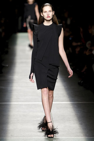 Givenchy Black Gothic Dress