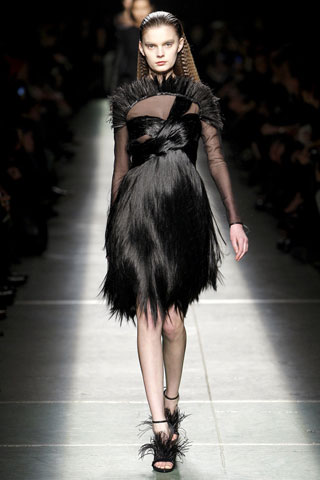 Givenchy Fur Dress