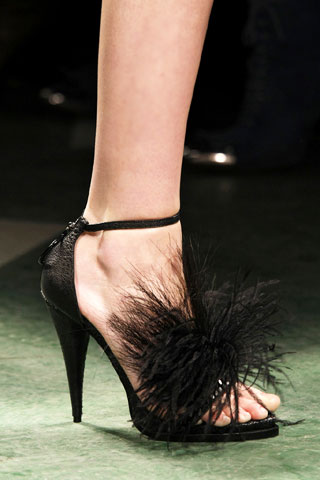 Givenchy High Heel Feather Strap Sandals