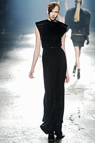 Lanvin Long Black Dress