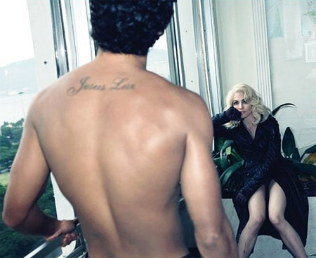 Madonna and Jesus Luz for W Magazine